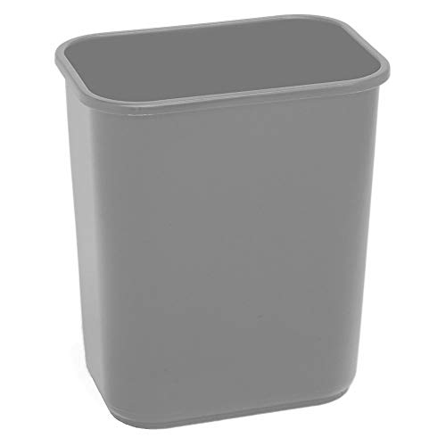 Highmark Office Depot Wastebasket, 7 Gallons, 14 1/2in.H x 10 1/2in.W x 15 1/4in.D, Gray, WB0187