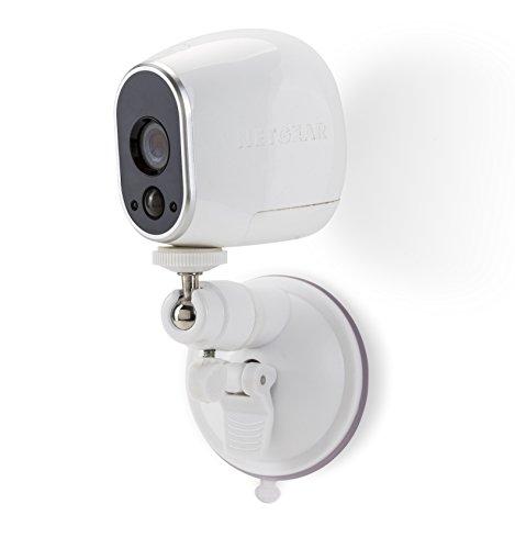 Soporte de Pared Inteligente de Seguridad con Ventosa – Soporte con Ventosa Ajustable para Interior/Exterior para Arlo CAM y Otros Modelos compatibles de Wasserstein (1 Pack, Blanco)
