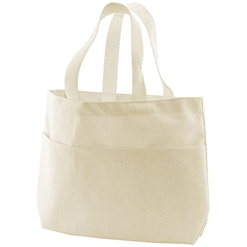 Canvas Corp Canvas 9 by 2.75 by 10-Inch Pocket Tote Bag, Small, Natural