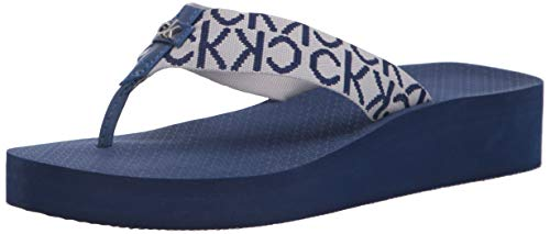 Calvin Klein Damen MEENA Flipflop, Blue467, 39 EU