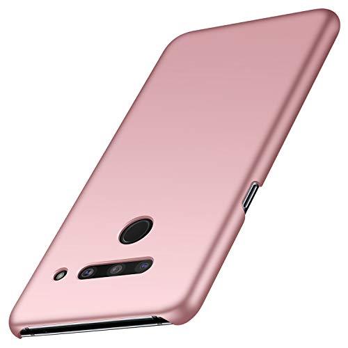Anccer Kompatibel mit LG V50 ThinQ Hülle, [Serie Matte] Elastische Schockabsorption & Ultra Thin Design (Glattes Rosen-Gold)