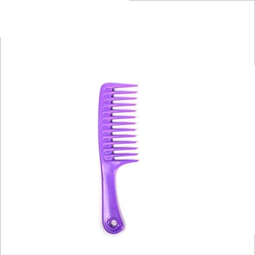 Herramientas de corte de cabello Peine de goma dentada grande y peine antiestático Detangling Vary-24.5cm de colores para plástico para mujeres (Color : Purple)
