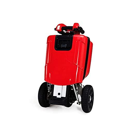 Scooter eléctrico ligero compacto de 3 ruedas para adultos – Scooter plegable automático blanco – 2 x 48 V 6,6 Ah / 20 km / H – Carga máxima 100 kg asistida