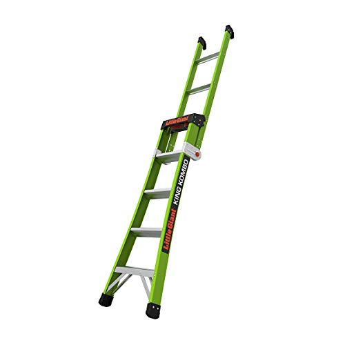 Little Giant Ladders, King Kombo, Professional, 5 Ft. A Frame, 8 Ft. Extension, Fiberglass, Type 1AA, 375 lbs Weight Rating, (13580-001)