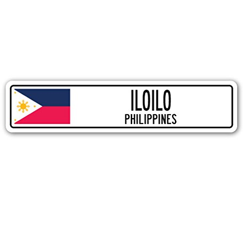 Iloilo, Philippines Street Sign Filipino Flag City Country Road Wall Gift