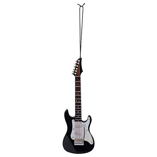 Broadway Gifts Musical Instrument Christmas Ornament (5' Black Electric Guitar)