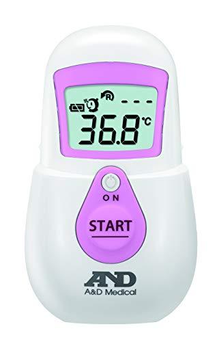 エー・アンド・デイ 非接触体温計 でこピッと ピンク UTR-701A-JC2