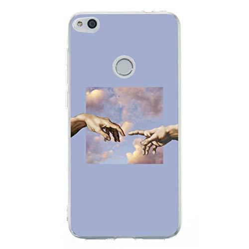 Everainy Funda Compatible para Huawei P8 Lite 2017 Silicona Carcasa TPU Suave Caso Goma Caucho Bumper Delgado Ultrafina Transparente Parachoque Antigolpes Case Cover (Mano)