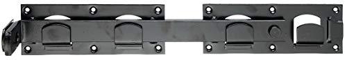 GAH-Alberts 210205 Doppeltorüberwurf | in den Ausführungen glatt oder gehämmert | schwarz | 423 x 70 mm