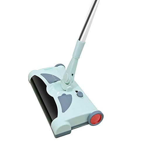 KIUY Akku-Akku-Kehrmaschine Leichtgewicht, bis zu 60 Minuten Laufzeit, Easy Sweep-Akku-Akku-Kehrmaschine