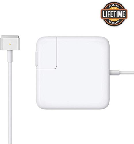 Mac Book Air Charger, Great Replacement 45W Magsafe 2 Magnetic T-Tip Power Adapter Charger for MacBook Air 11-inch and 13-inch (Mid 2012 or Later) ... (White)