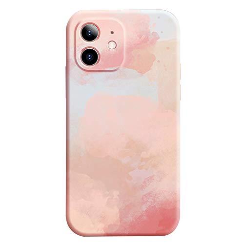 Tcbydl Funda para iPhone 12 Pro Max, carcasa de silicona líquida, carcasa para teléfono móvil Apple Case resistente a los golpes, funda suave para mujeres y hombres (3, 12 Pro Max)