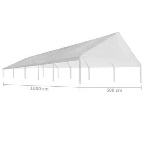 Tidyard Tetto per Tendostruttura,Giardino e Giardinaggio Dondoli per Portico 5 x 10 m Bianco