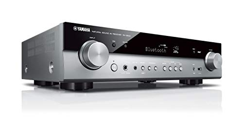 Yamaha RX-S602 MC AV-Receiver (Slimline Netzwerk-Receiver mit kraftvollem 5.1 Surround-Sound - für packendes Home Entertainment – Music Cast und Alexa kompatibel) titan