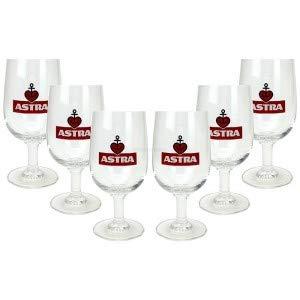 Astra Bier Pokale/Tulpen/Kelch - Astra Bierglas / 4er Set / 6X 0,2L Glas mit eichung/Eichstrich