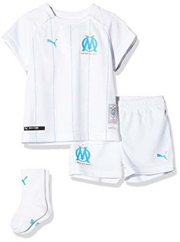 Puma Om Home Baby-Kit with Socks with Hanger Maillot Garçon Puma White/Bleu Azur FR : Taille Unique (Taille Fabricant : Taille Unique)