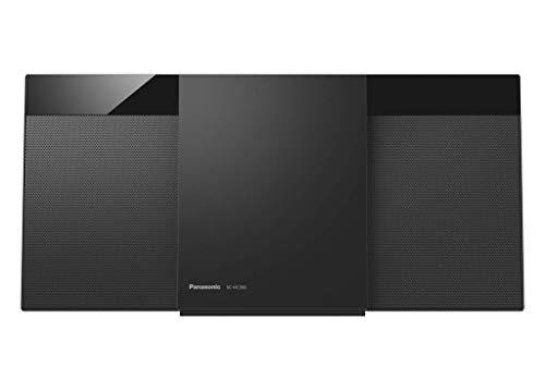 Oferta de Panasonic SC-HC300EG-K - Microcadena (Home Audio Micro System, 1 Discos, 20 W, de 1 Vía, Radio FM, Bluetooth, Diseño Elegante y Fino, Sistema Hi Fi, Sonido Nítido y Puro) Color Negro