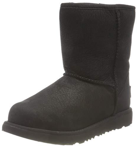 UGG Kleinkind KLASSISCHES Wetter KURZ Mode-Stiefel, Schwarz, 22 EU