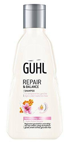 Guhl Repair & Balance Shampoo - 2er Pack (2x 250 ml) - mit Manuka-Honig und Milch - regeneriert ganzheitlich und kräftigt das Haar