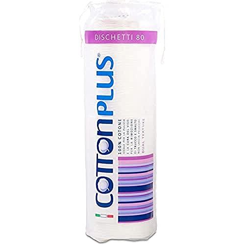 Cotton Plus etti 80 pièces – Ligne Beauty | TTI 100% pur coton | Disques démaquillants pour le nettoyage du visage doux et résistants.
