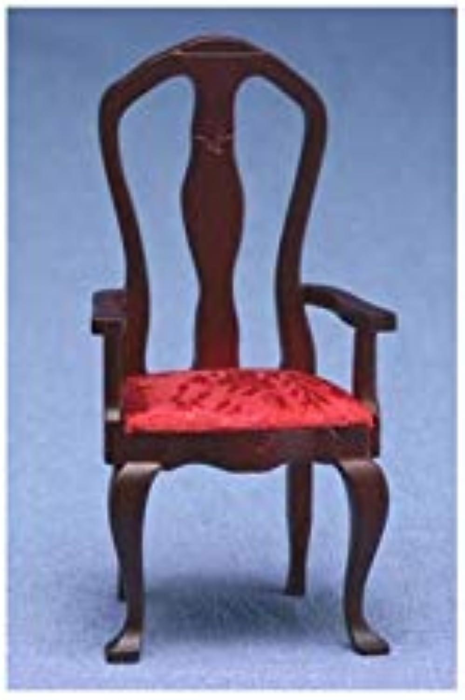 1  Scale Dollhouse Queen Anne Arm Chair