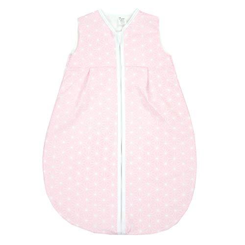 TupTam Baby Sommer Schlafsack Ärmellos Unwattiert, Farbe: Rosette Rosa, Größe: 80-86