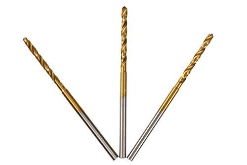 UID チタンコートミニルーター 小径ドリル Φ2.2mm 3本セット シャフト径2.35mm チタンコートで長寿命(当社比約2倍) NO.875