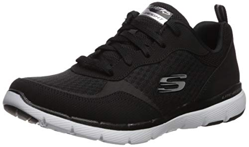 Skechers Women's Flex Appeal 3.0-GO Forward Sneaker, BKW, 10 W US