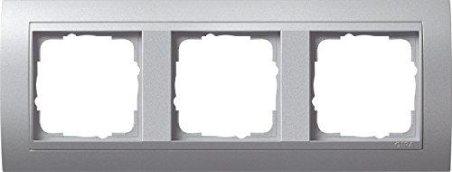 Gira Rahmen 021336 3fach + ZR Event Farbe Alu