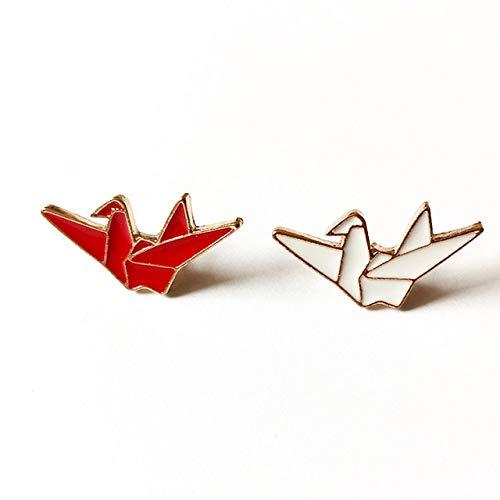 Mode Emaille Brosche süße Flügel Origami Mix Abzeichen Stifte für Rucksäcke Schmuck Geschenk-Origami-T10