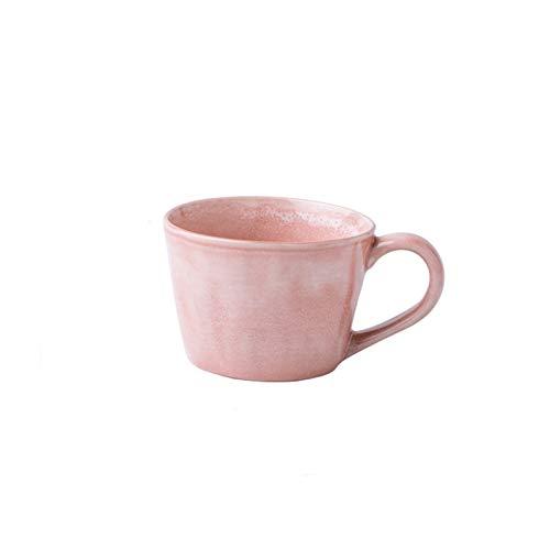 Tazas Taza De Café Taza Rosada Pareja Gran Calibre Arco Mango Cerámica Taza de cerámica 350ml Taza de café Muchacha Oficina Diaria Taza de té del hogar Aislamiento de Calor Copa de Agua Taza de café