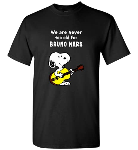 Snoopy We are Never Too Old for Bruno Mars Camiseta