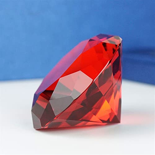 JUNLAI 6cm Ruby Red Color Crystal Glass Diamond Paper Crystal Decoración de la Boda Boda Regalos de San Valentín