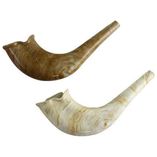 Plastic Shofar for Kids with Natural Color Design, Magnificent Real Looking Whistle Shofar Toy (Single) (Single)