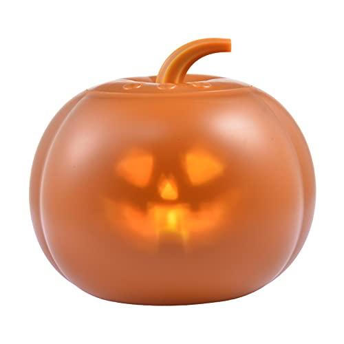 Halloween Kürbislaterne - Halloween sprechender animierter Kürbis mit eingebautem Projektor, Liedern und Witzen, Kürbis-Animationsprojektor für Halloween-Dekorationen, Indoor- und Outdoor-Partys