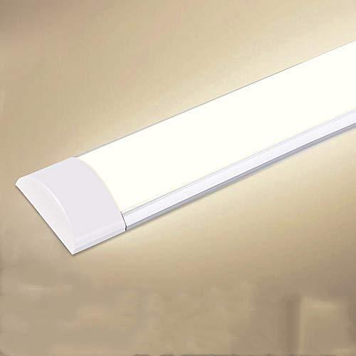 LED Feuchtraumleuchte, Deckenleuchte, Led Röhre Badlampe, Schrank Licht für Badzimmer, Wohnzimmer, Küche, Garage, Lager, Keller, Werkstatt, Hobbyraum[Energieklasse A++] (1 Pack, 10W Warmweiß)