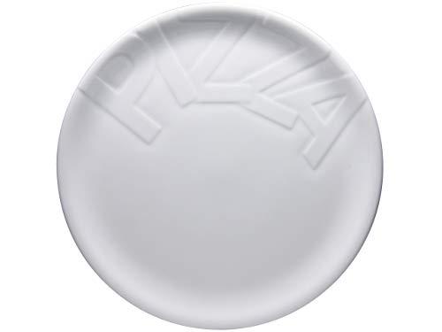 Creatable, 16581, Serie Gourmet, 32cm 4tlg Pizzateller, Porzellan, weiß, 34.5 x 34 x 8 cm, 4-Einheiten