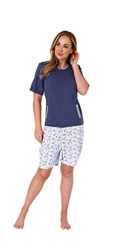 Normann Care Damen Pflegeoverall Kurzarm mit Reissverschluss am Rücken und am Bein 271 271 90 100, Größe:L, Farbe:blau