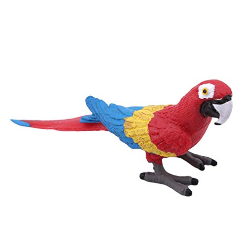 Carry stone Tier Dekorative Figuren Simulation Mini Cute Papagei Vogel Figuren Tier Modell Spielzeug Für Wohnkultur, Bunte Papagei, 723 Nützlich und Praktisch