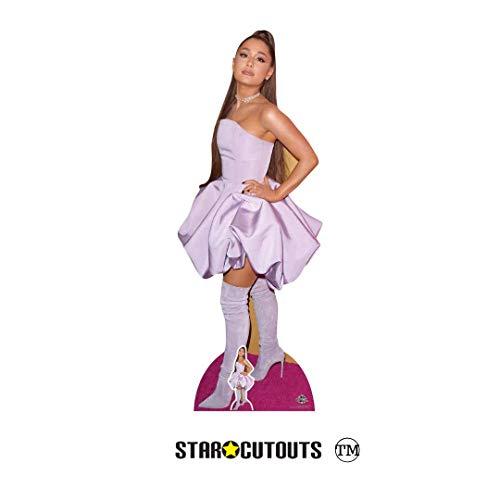 Star Cutouts CS780 Ariana Grande Pappaufsteller in Lebensgröße, 163 cm, inklusive Mini-Schreibtischständer, mehrfarbig