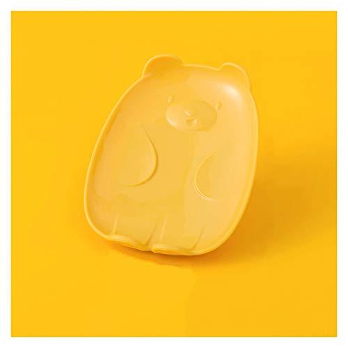 Caja jabón Soporte de jabón de drenaje multifuncional, contenedor de jabón de plástico con manguito de silicona en la parte inferior, puede usarse como un hermoso regalo para familiares y amigos Band