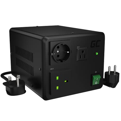 Green Cell 1600W/2000W Watt | 230V ⇄ 110V Volt | SOFT START | USA UK EU Steckdose Spannungswandler Ringkern-Transformator Konverter Step Up & Step Down Converter 220V-240V ⇄ 110V-120V Wechselrichter