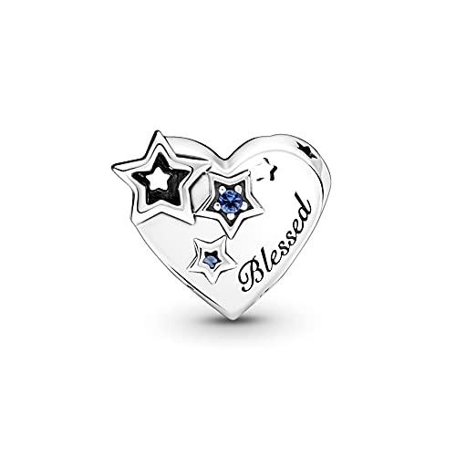 Pandora 925 colgante de plata esterlina Diy se adapta a la pulsera Pandora Plata esterlina original Thankful Heart Stars Charm Beads para la fabricación de joyas Mujeres Kralen New