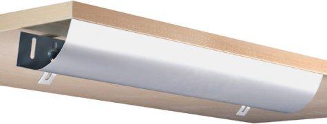 Eisnhauer® Kabelwanne abklappbar, 760 mm lang, für Schreibtische im Büro/Home-Office gegen den Kabelsalat am Arbeitsplatz