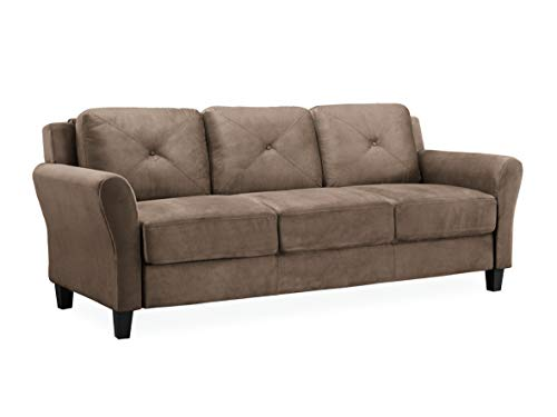"Lifestyle Solutions Collection Grayson Micro-fabric SOFA, 80.3"" x 32"" x 32.68"", Brown"