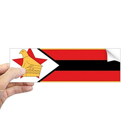 DIYthinker Zimbabwe Nationale Vlag Afrika Land Rechthoek Bumper Sticker Notebook Window Decal