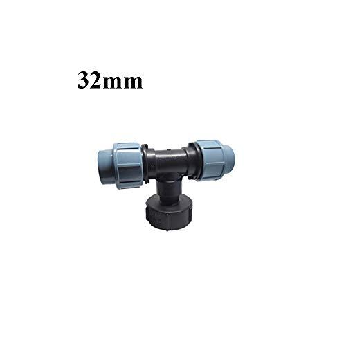 Raccord de vanne de réservoir d'eau S60 x 6 IBC 20/25/32 mm en T adaptateur pièces de raccord, 32mm, 1