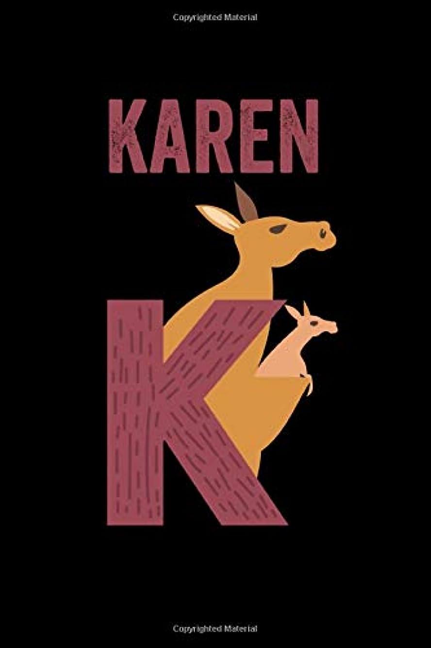 ファシズムログサイトKaren: Journal (Diary, Notebook) Personalized Custom Name Alphabet Kangaroo Birthday Gift for Girls
