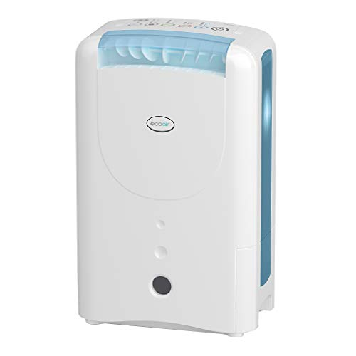 EcoAir DD1 CLASSIC MK5 Desiccant Dehumidifier with Ioniser and Silver Filter, 7 L - Blue