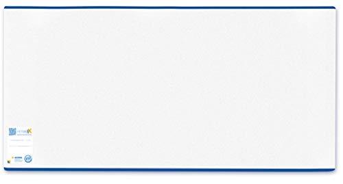 HERMA 7265 Buchumschlag HERMÄX Classic (Größe 26,5 x 54 cm, transparent) Buchhülle aus robuster Folie mit Namensetikett, 1 Buchschoner für Schulbücher